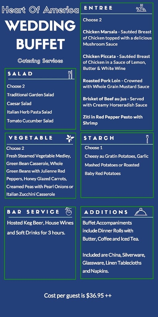 Kansas City Wedding Menu