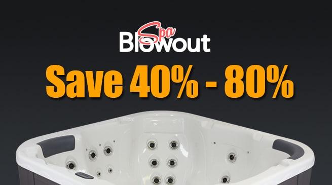 spa blowout sale
